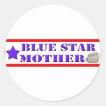 Blue Star Mother Round Stickers