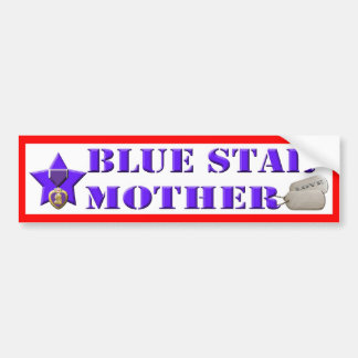 Blue Star Mother - Wounded Warrior Bumper Sticker