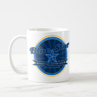 Blue Star Motor Oil Mug Logo