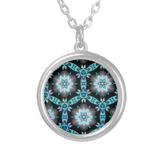blue star round pendant necklace