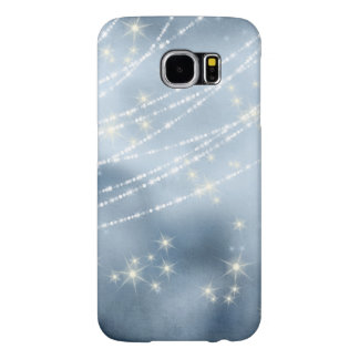 Blue Star Night White Pearl Swag Strands Sparkle Samsung Galaxy S6 Cases