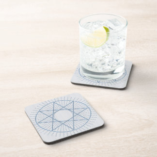 Blue Star Octagram Drink Coaster