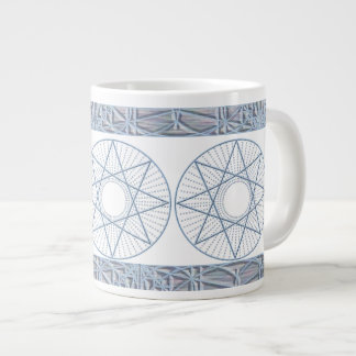 Blue Star Octagram Large Coffee Mug