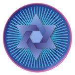 Blue Star of David Decorative Plate