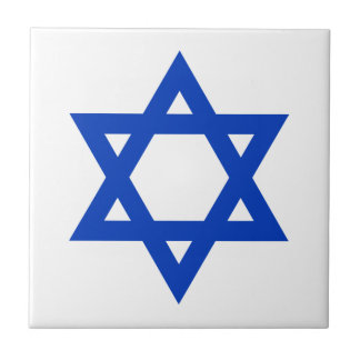 Blue Star of David Tile