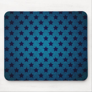 Blue Star Pattern Mouse Pad