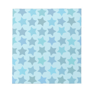 Blue Star Pattern Notepads