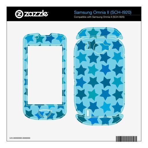 Blue Star Pattern Samsung Omnia II Decals