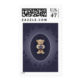 Blue Star Postage Stamp
