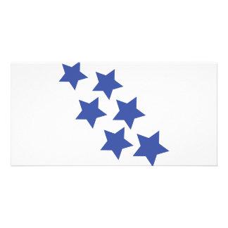 blue star rain icon card