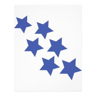 blue star rain icon flyer
