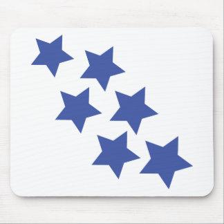 blue star rain icon mouse pad