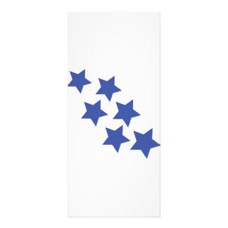 blue star rain icon rack card