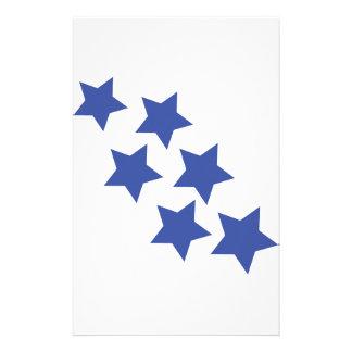 blue star rain icon stationery
