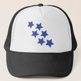 blue star rain icon trucker hat