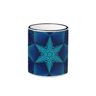 Blue Star Ringer Mug