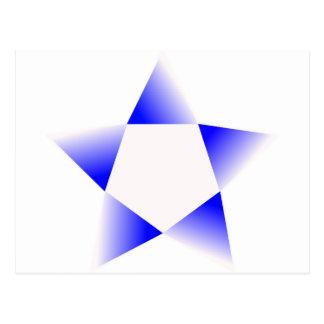 Blue Star Rotating Postcard