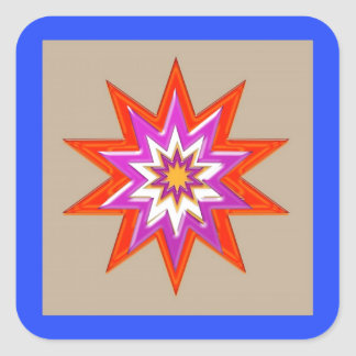 BLUE STAR: ROYAL LIBERTY FREEDOM LOVE lowprice Square Stickers