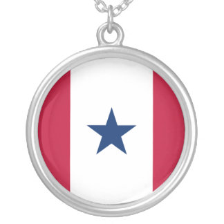 Blue Star Service, United States flag Personalized Necklace