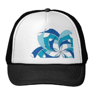 blue star shapes trucker hat
