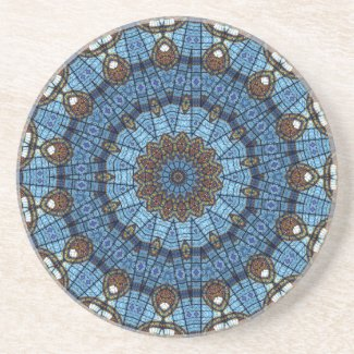 Blue Star Stained Glass Drink Coaster coaster