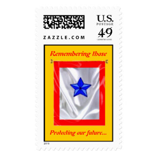 Blue star stamp