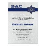 Blue Star Stripe Bar Mitzvah Invitation