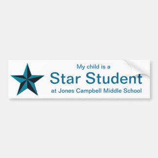 Blue Star Student Honor Roll Bumper Sticker