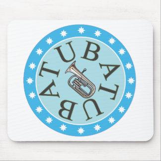 Blue Star Tuba Mouse Pad