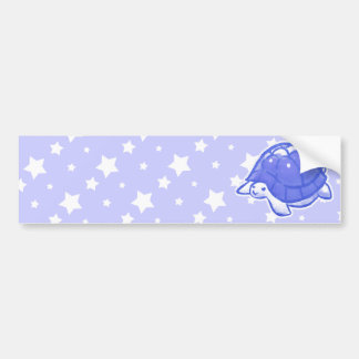 Blue Star Turtle Bumper Sticker
