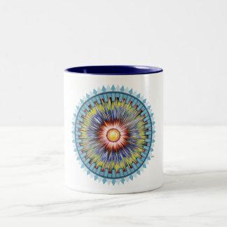 Blue Star Two-Tone Coffee Mug
