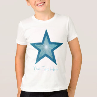 Blue Star 'two tone' 'Your Text' kids t -shirt T-Shirt