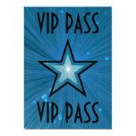 Blue Star 'VIP PASS' invitation black