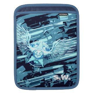 Blue Star Wing iPad Sleeve.
