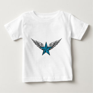 Blue Star with Wings Baby T-Shirt