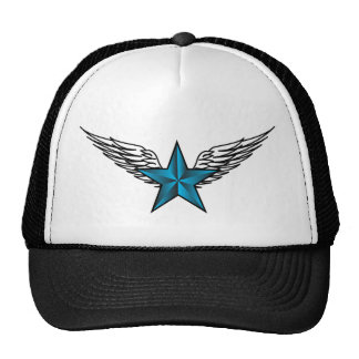 Blue Star with Wings Trucker Hat