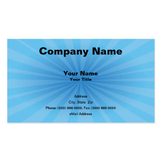Blue Starburst Business Card