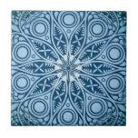 Blue Starburst Graphic Design Ceramic Tiles