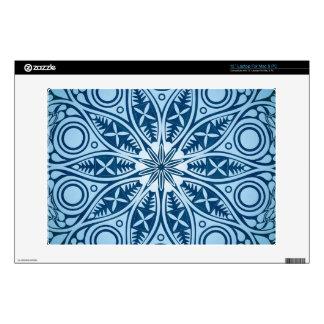 Blue Starburst Graphic Design Laptop Skins