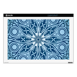 Blue Starburst Graphic Design Laptop Skin