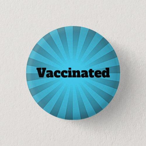 Blue Starburst Vaccination Design Button