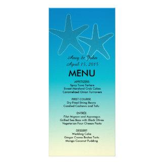 Blue starfish destination beach wedding vr11 rack card