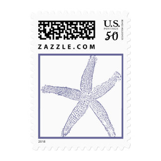 Blue Starfish Postage Stamp