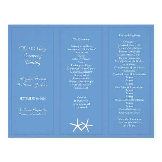tri fold wedding program template fold program paper paper fold
