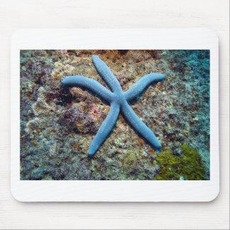 Blue starfish tropical ocean Raja Ampat Islands Mouse Pad