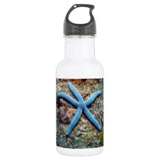 Blue starfish tropical ocean Raja Ampat Islands 18oz Water Bottle