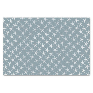 "Blue Starfish Tropical Pattern Tissue Paper 10"" X 15"" Tissue Paper"