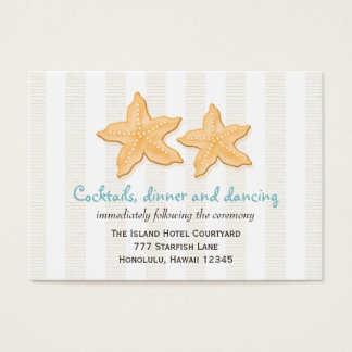 Blue Starfish Wedding Reception Enclosure Cards