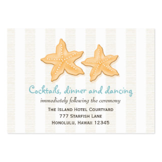 Blue Starfish Wedding Reception Enclosure Cards Business Card Templates