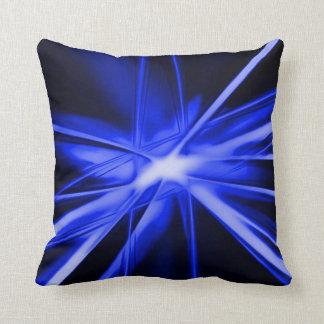 Blue Starlight Abstract Airbrush Art Throw Pillow